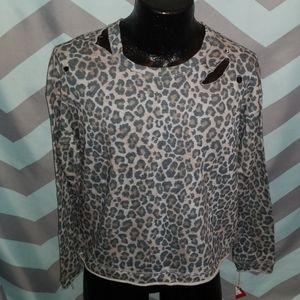 Leopard women shirt size s